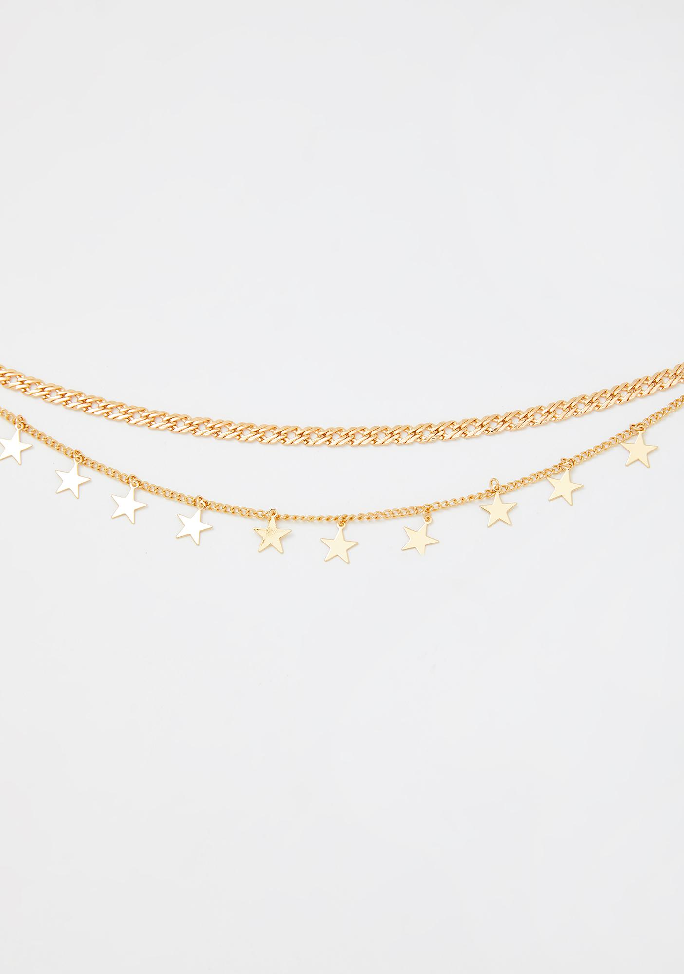 Goldie Written In The Stars Chain Necklace