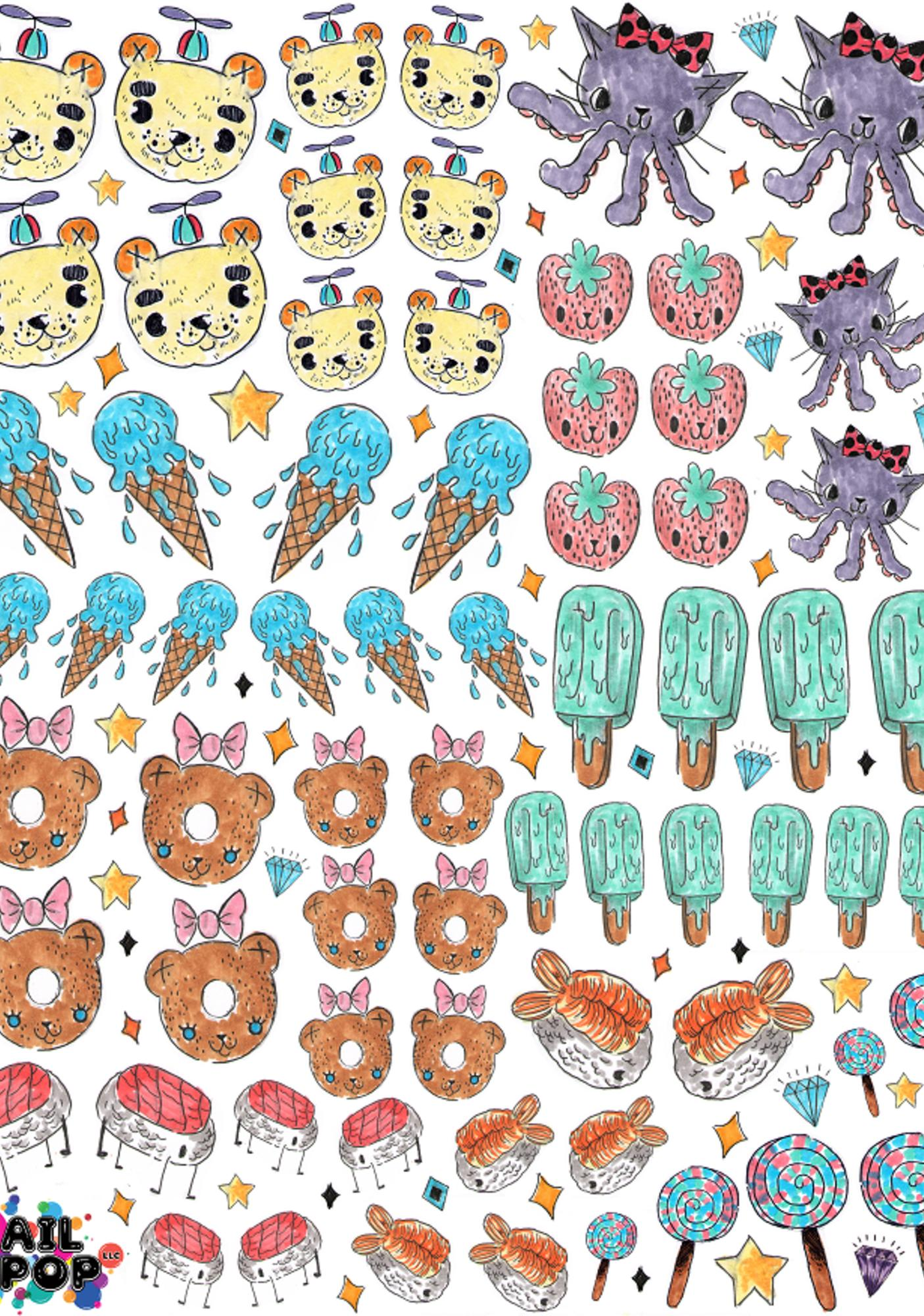 Nail Pop Space Treats Nail Decal