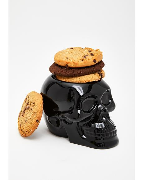 Black Skull Cookie Jar