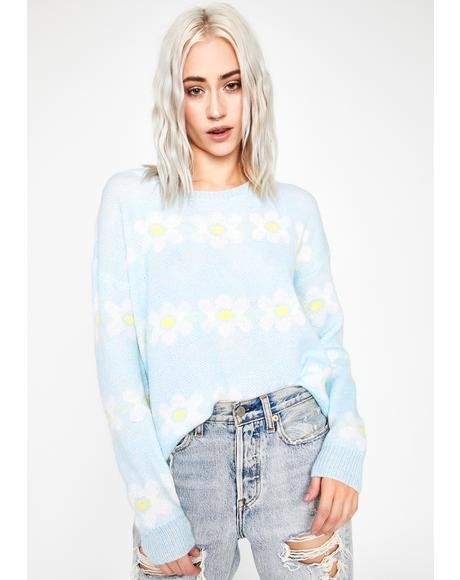 Hazy Daisies Knit Sweater