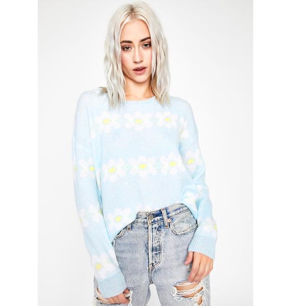 Hazy Daisies Knit Sweater