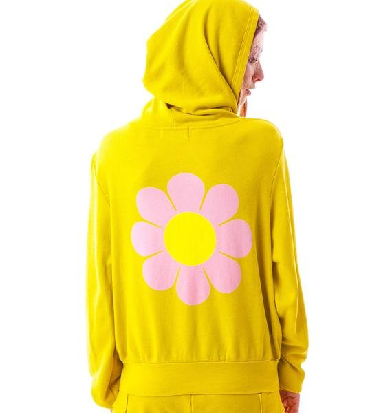 Wildfox Couture Flower Girl Mailbu Zip Up Hoodie