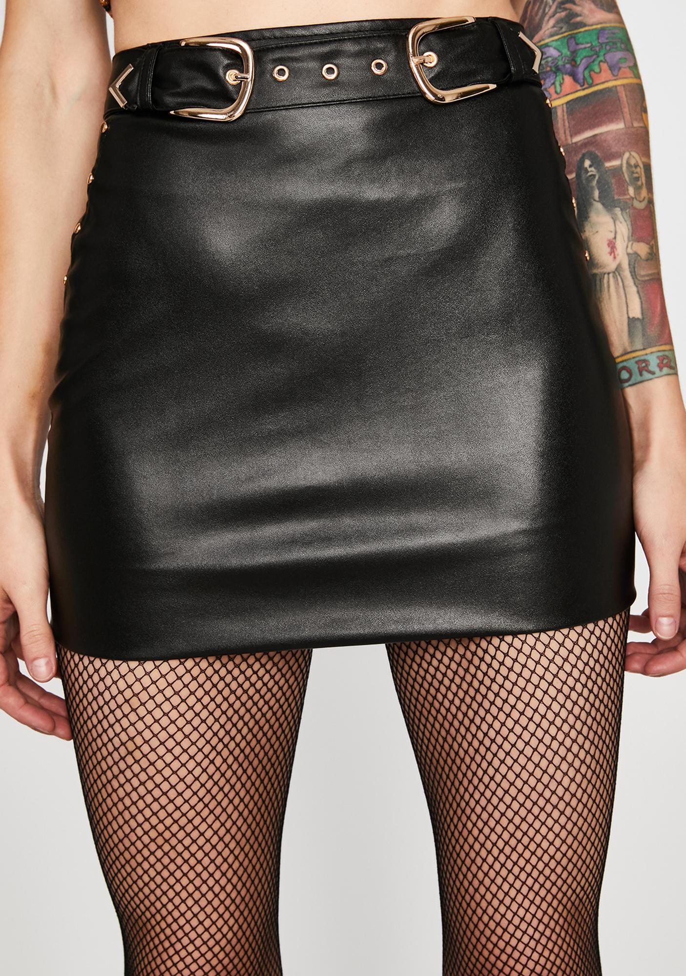 Rodeo Rebel Faux Leather Skirt
