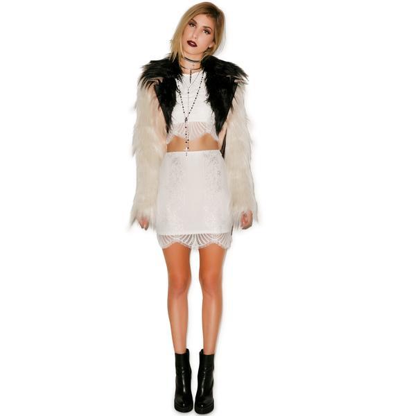 For Love & Lemons Lolo Mini Skirt