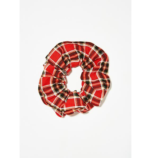 Pass With Class Plaid Scrunchie