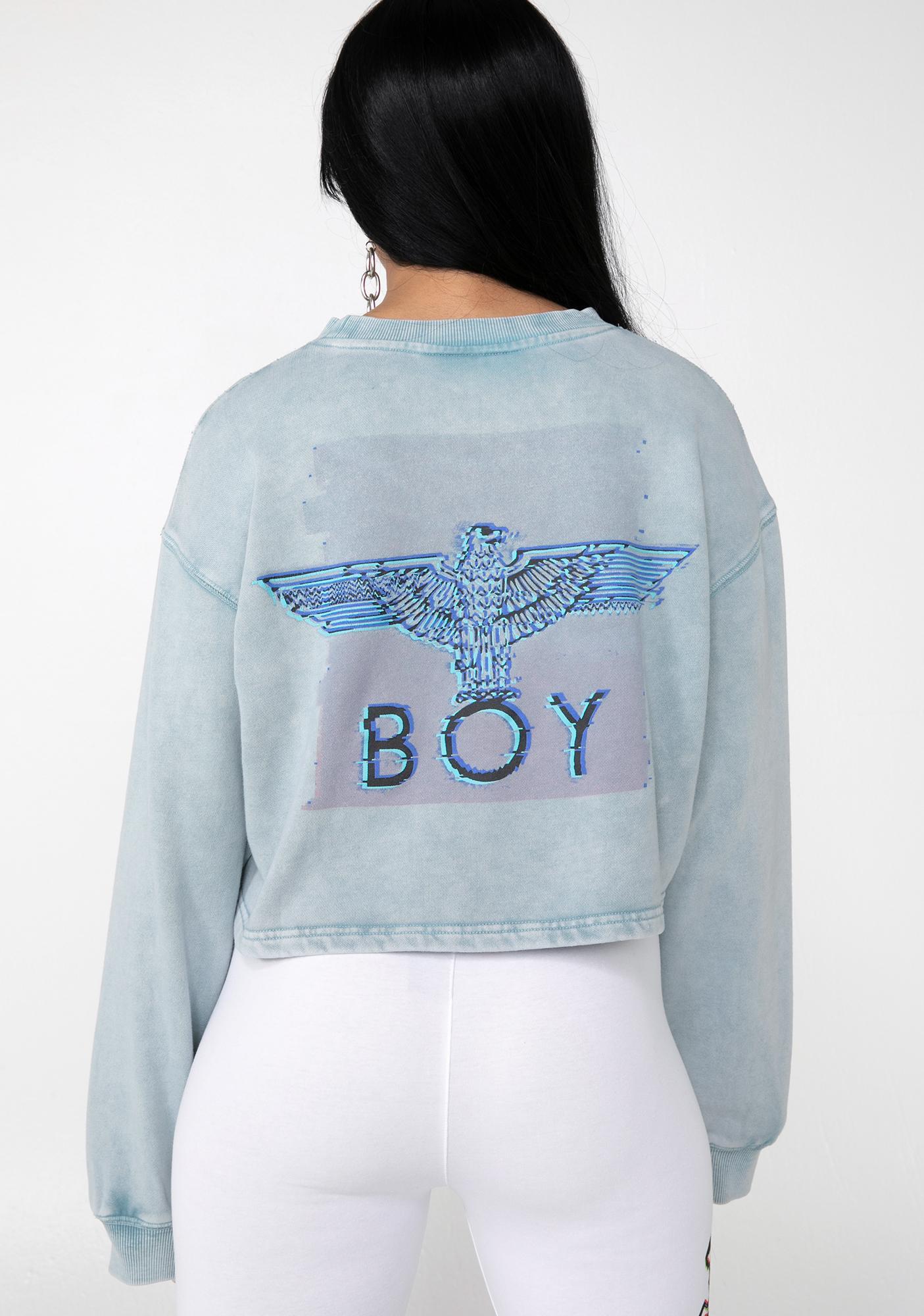 78afb72cd166 BOY London Boy Eagle Cropped Sweatshirt