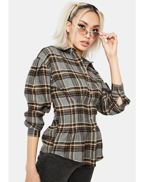 Tomboy Chic Flannel Shirt