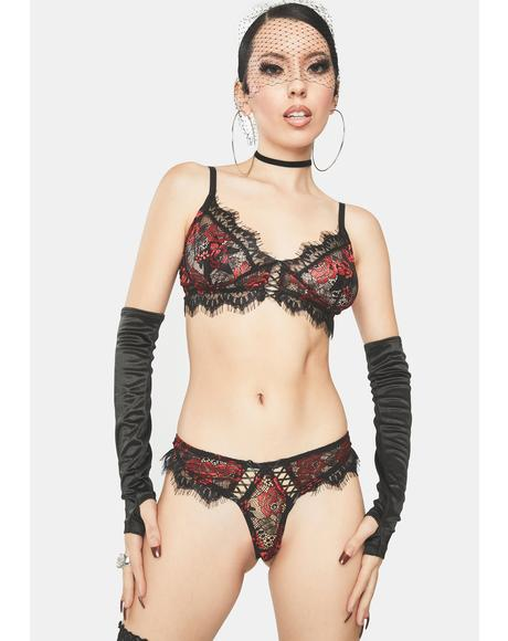 Deadly Romance Lace Lingerie Set