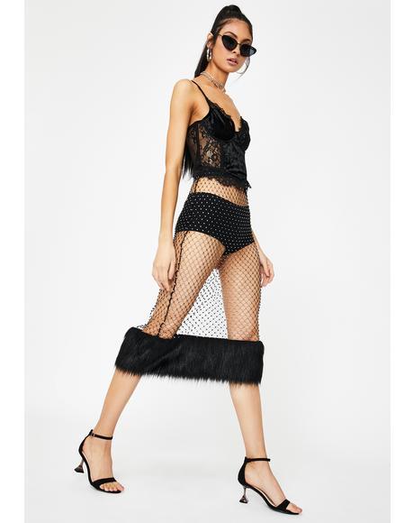 Haute Heathen Rhinestone Skirt