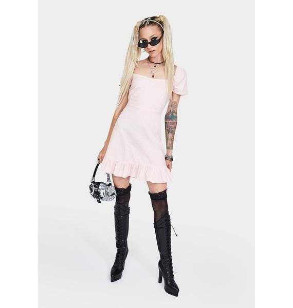Motel Peach Syami Mini Dress
