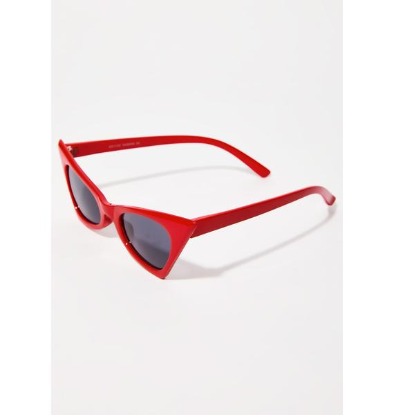 The Cobra Snake Red Classic Foxy Shades