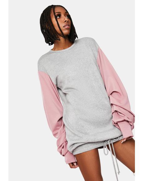 Baddie in Disguise Oversized Sweatshirt Dress