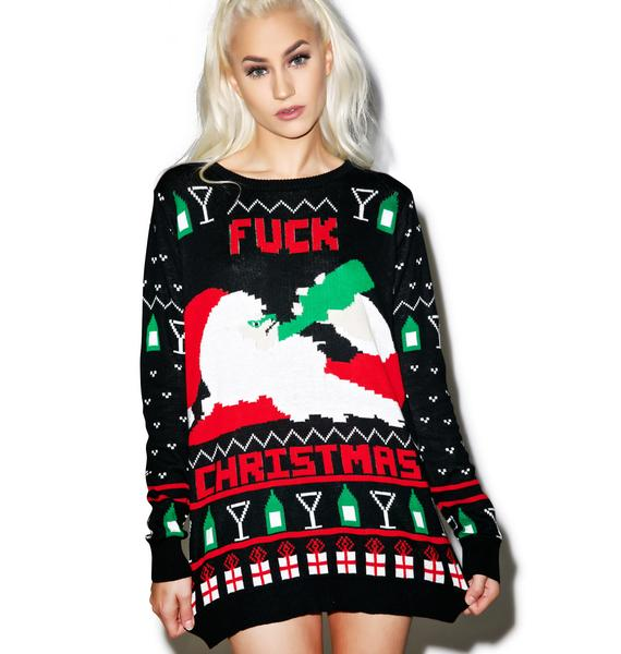 Fuck Christmas Get Drunk Sweater