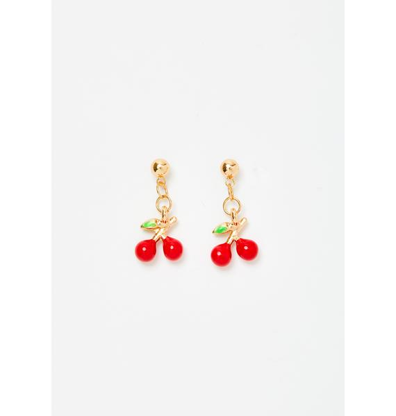 Pop It Cherry Earrings