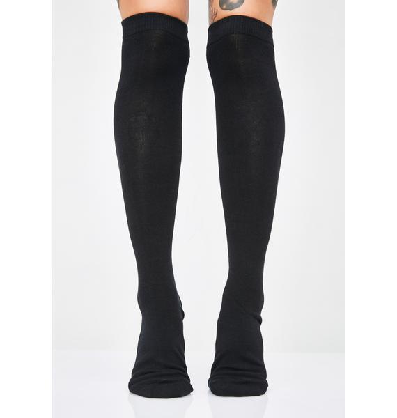 Sourpuss Clothing Spider & Web Knee High Socks