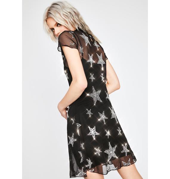 HOROSCOPEZ Head In The Stars Mesh Dress