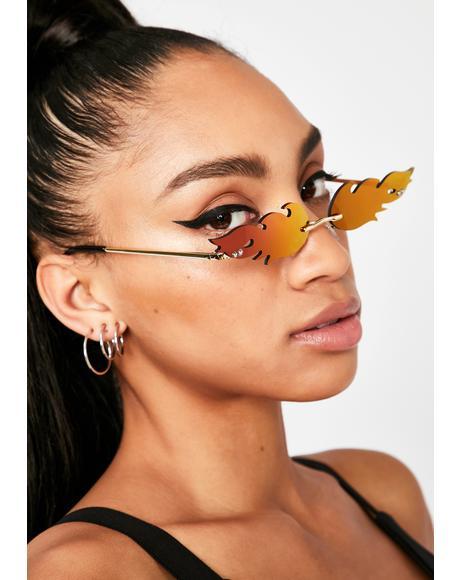 Candy Fire Tracks Reflective Sunglasses
