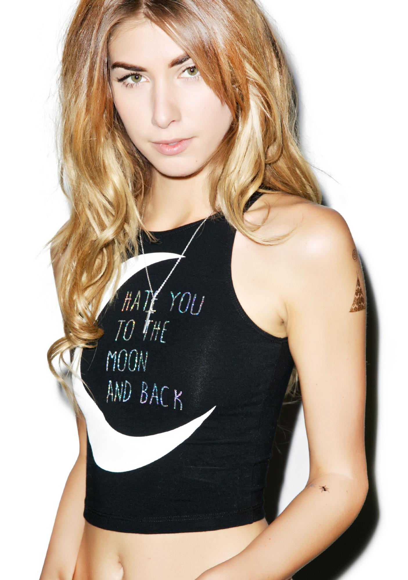 MeYouVersusLife Hate You To The Moon Crop Top
