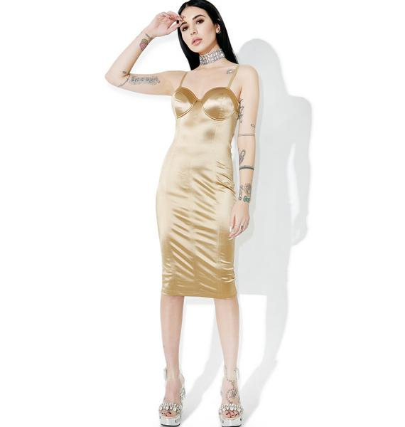 Trophy Wife Satin Dress