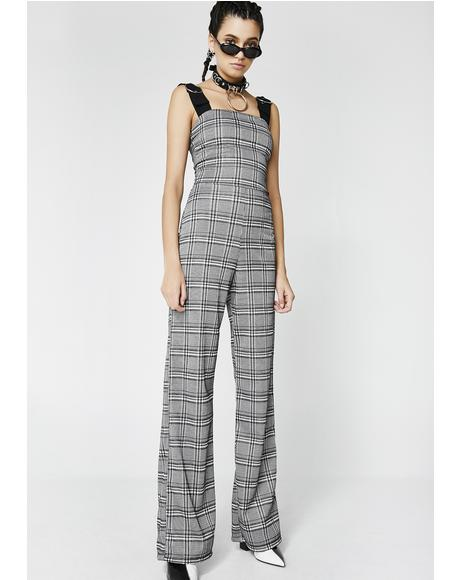 Make Your Mind Plaid Jumpsuit