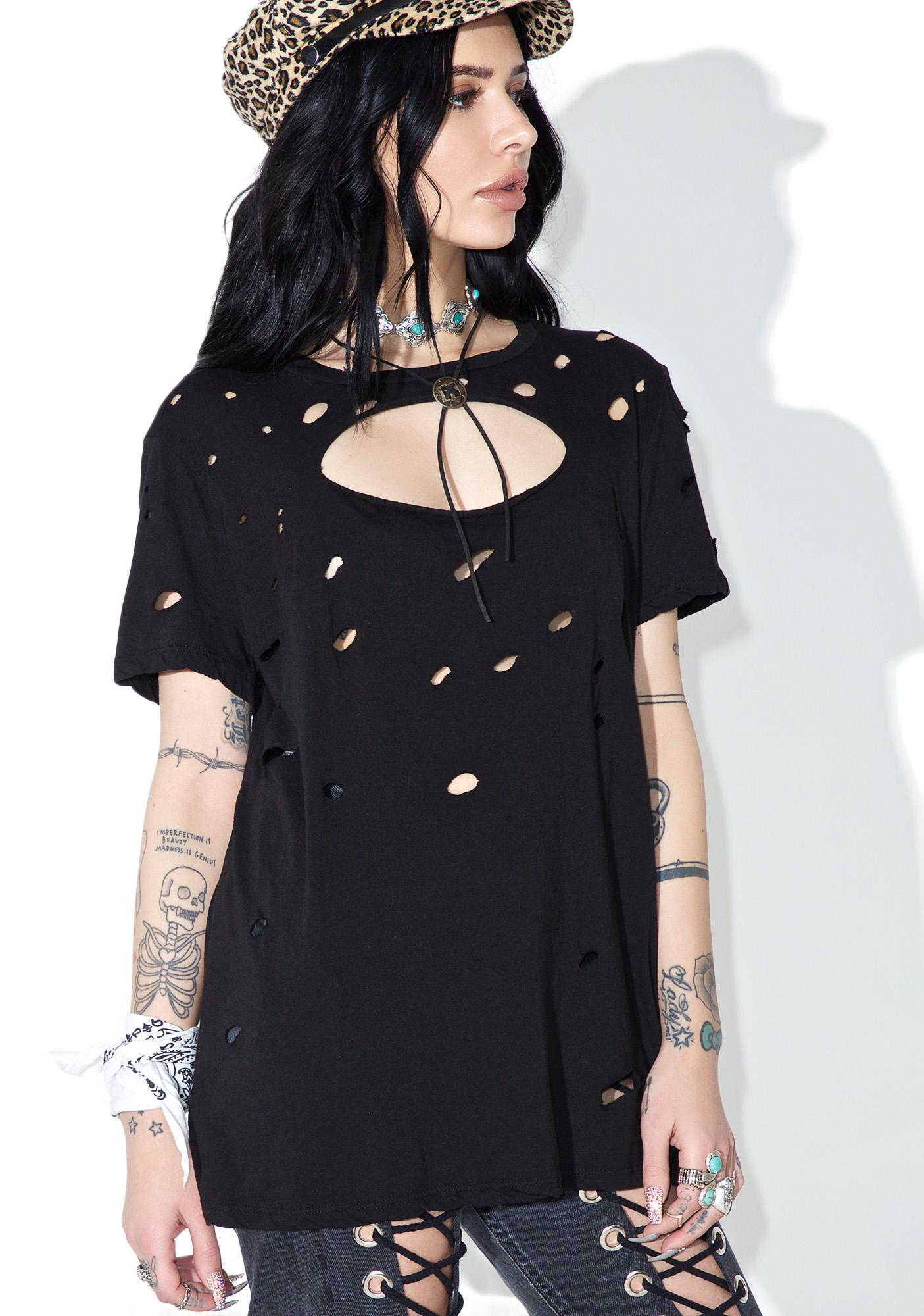 Siouxsie Distressed Tee