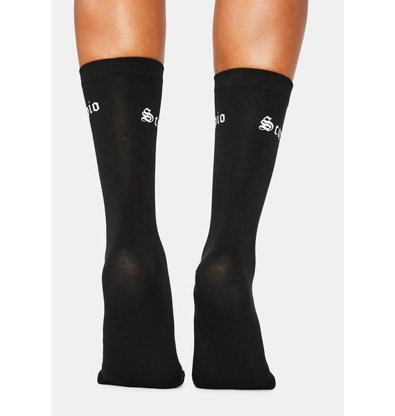 Sassy Scorpio Crew Socks