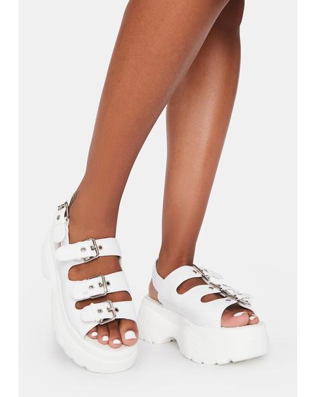 Out My Way Platform Sandals