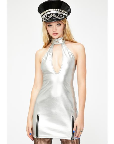 Stellar Star Choker Mini Dress