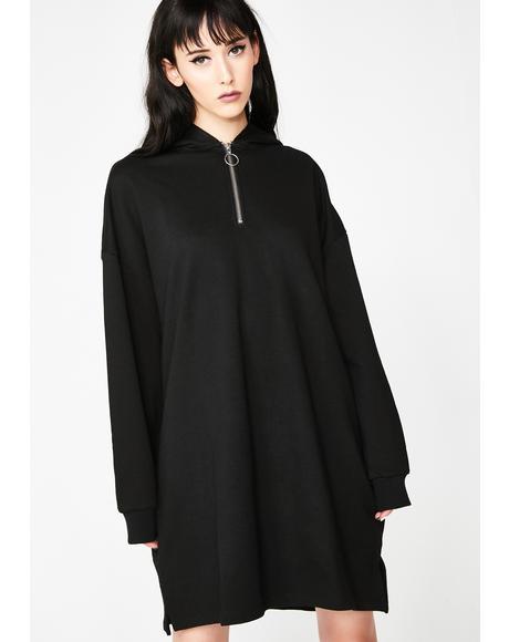 Lo Zip Hoodie Dress