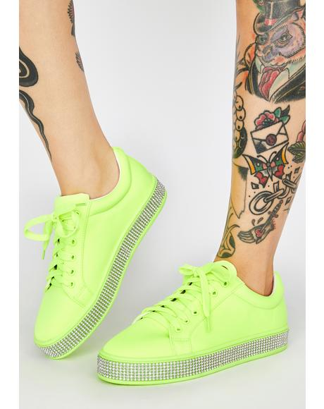 Toxic On The Roxxx Rhinestone Sneakers