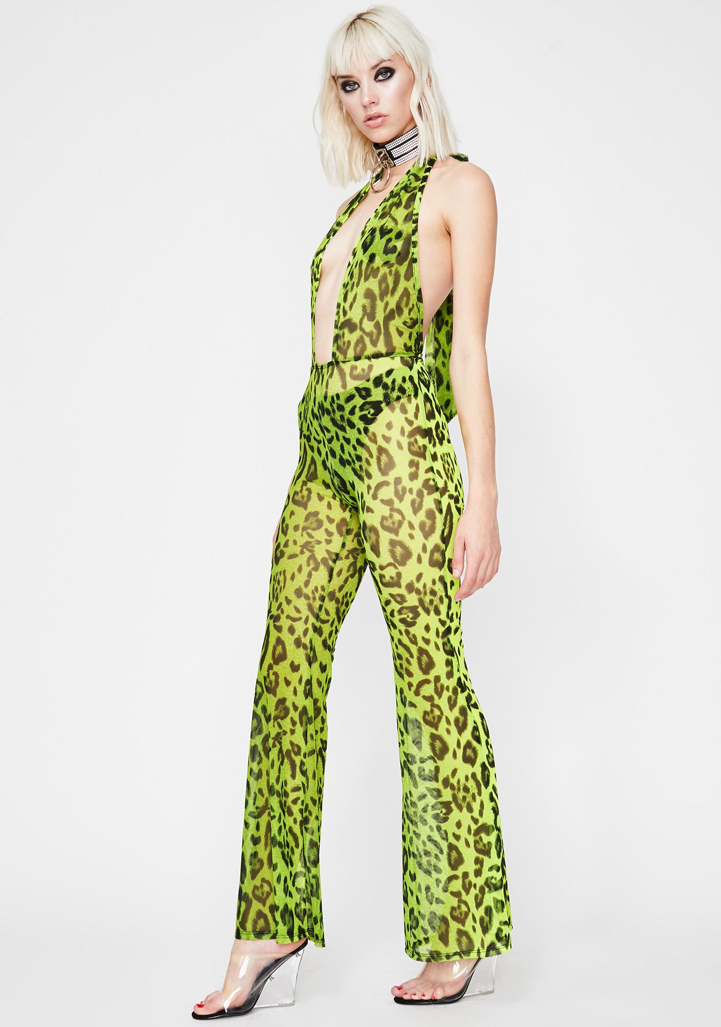 Bodak Boss Jungle Sheer Jumpsuit
