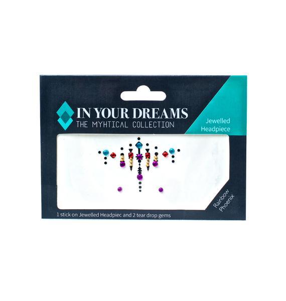 In Your Dreams Rainbow Phoenix Jewelled Headpiece