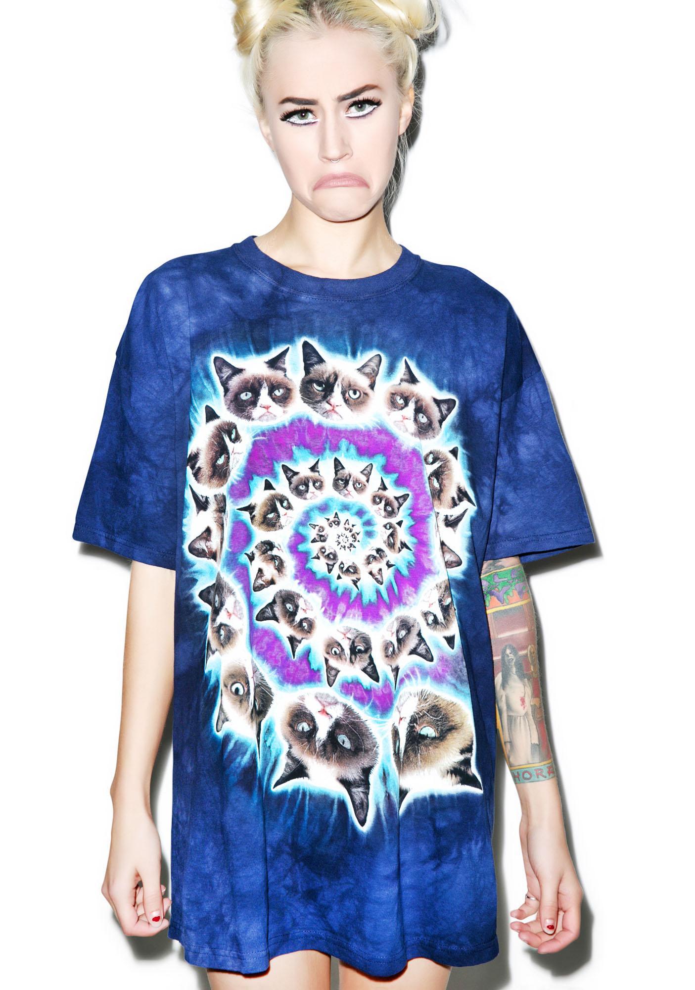 Grumpy Cat Spiral Tee