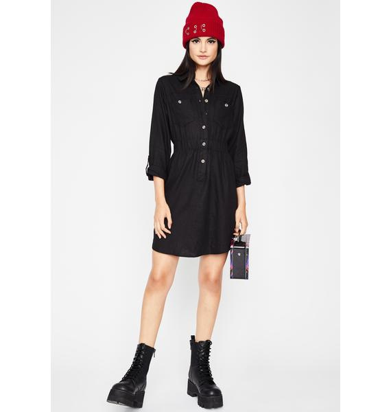 Have A Chat Shirt Dress