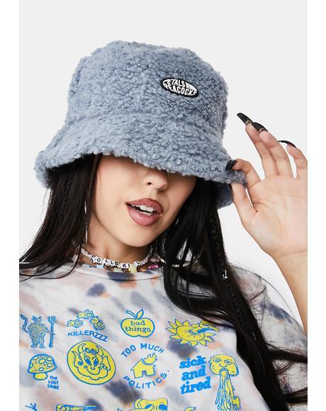 Blue Sherpa Bucket Hat