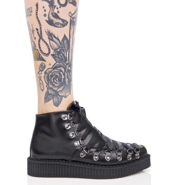 T.U.K. Lace-Up Corset Creepers