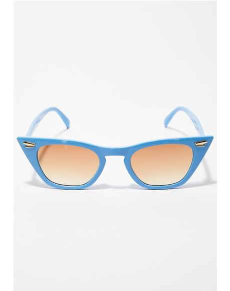 Topaz Down For It Cat Eye Sunglasses
