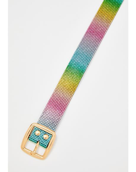 Prismatic Pixie Rhinestone Belt