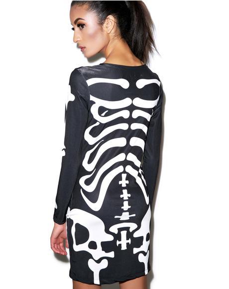 Dem Bones Bodycon Dress