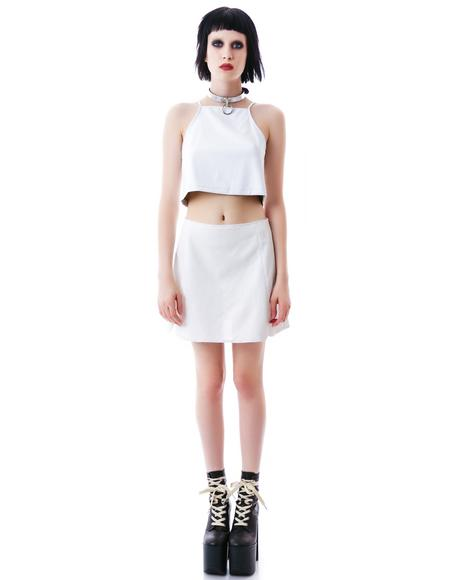 Levi Perforated Crop Top