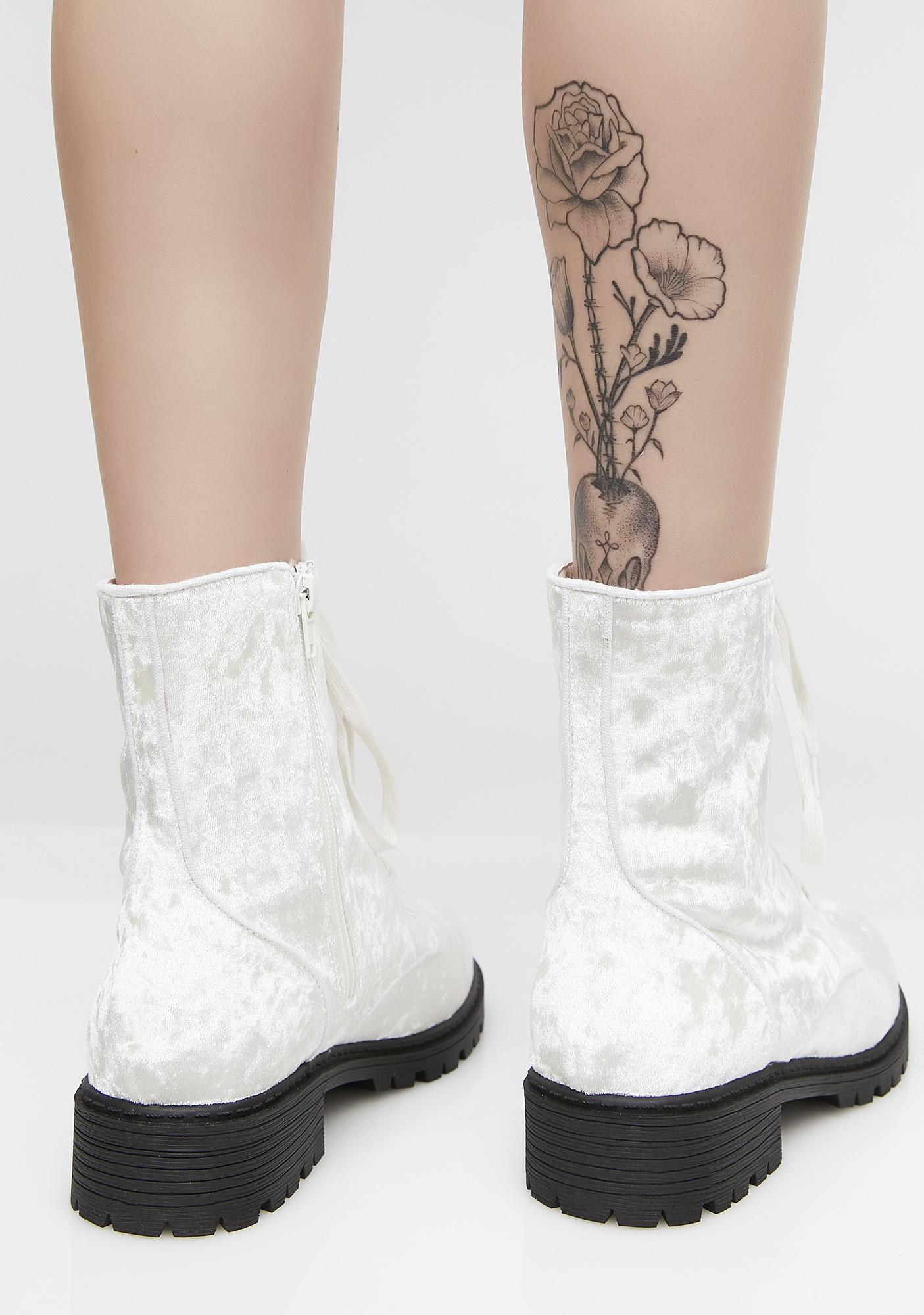 Angel Unlocked Love Combat Boots