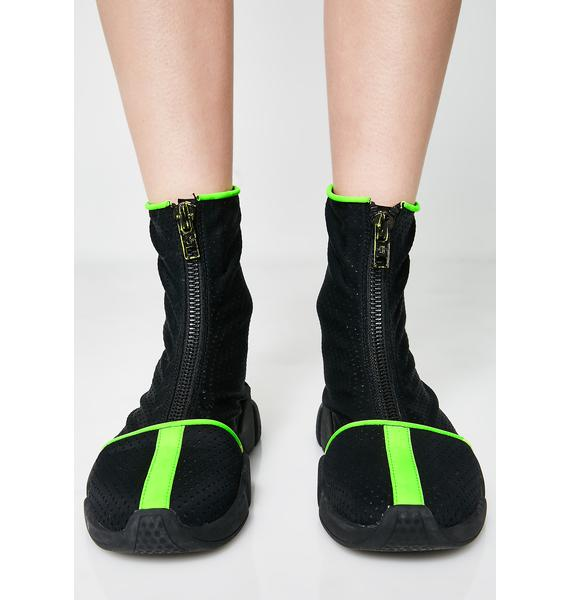 Current Mood Rave Ninja Beach Booties