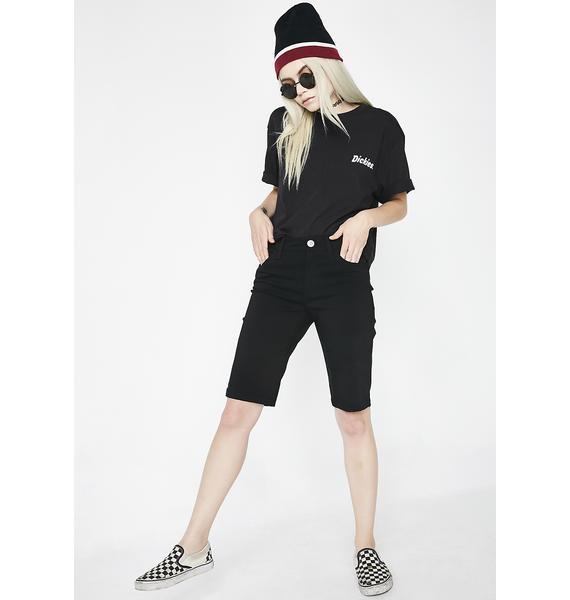 Dickies Girl Mid Rise Stretch Bermuda Shorts