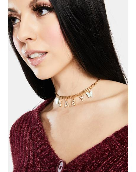 In La La Land Rhinestone Chain Necklace