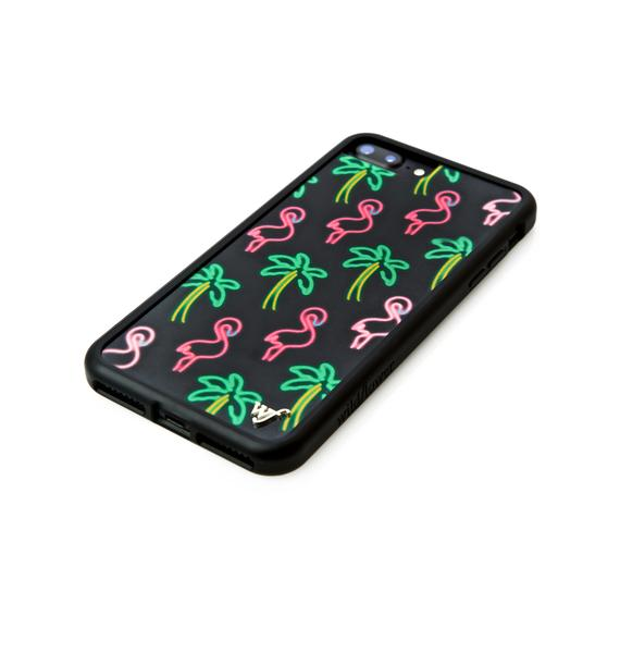 Wildflower Miami Flamingo iPhone Case
