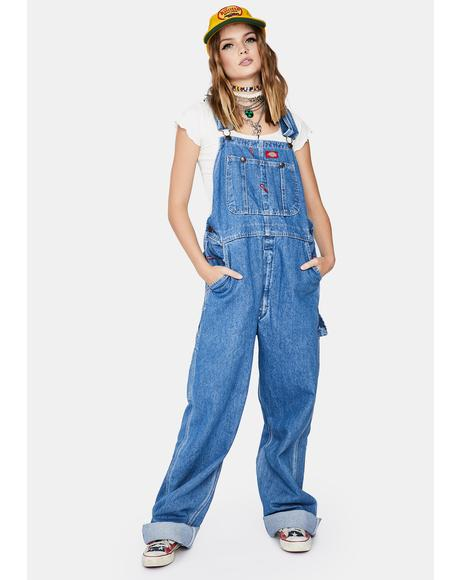 Indigo Wash Denim Bib Overalls