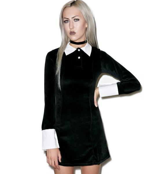 Killstar Addams Velvet Dress