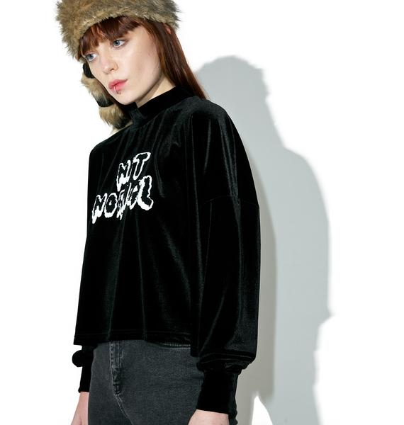 Lazy Oaf Not Normal Velvet Sweater