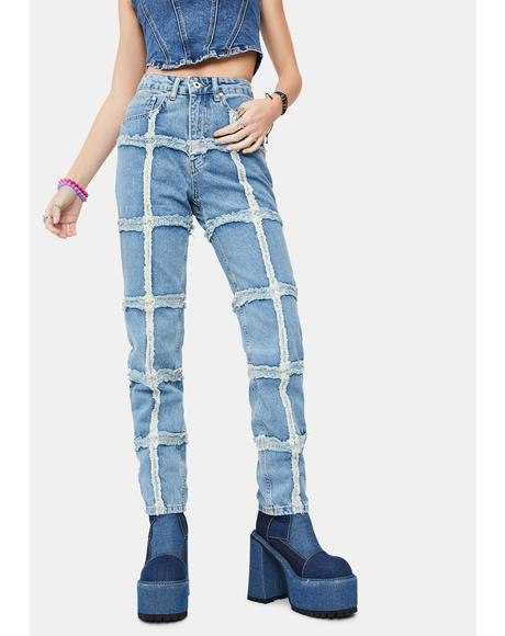 Crook Distressed Denim Jeans