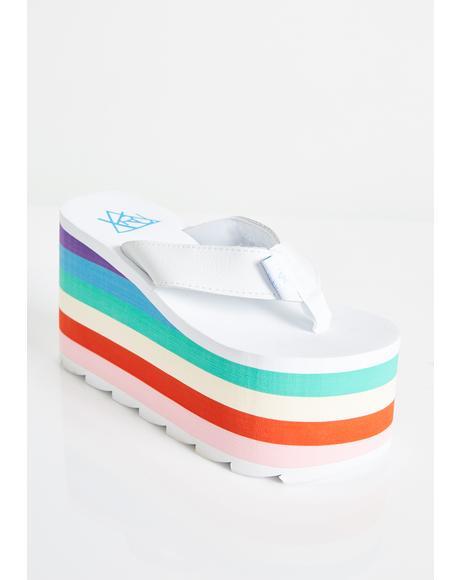 Ice Pixi Rainbow Platform Sandals